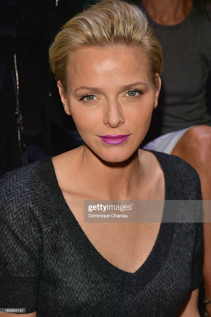 Princess Charlene of Monaco attends the Louis Vuitton show as part of the Paris Fashion Week Womenswear Spring/Summer 2014 on October 2, 2013 in Paris, France.