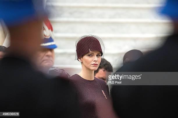 Princess Charlene of Monaco attends the Monaco National Day Celebrations on November 19 2015 in Monaco Monaco on November 19 2015 in Monaco Monaco
