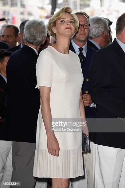 Princess Charlene of Monaco attends the Monaco Yacht Club Opening on June 20 2014 in MonteCarlo Monaco