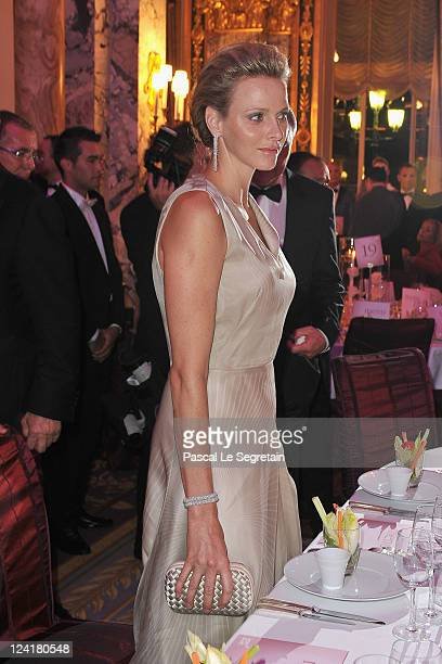 Princess Charlene of Monaco attends the Montblanc 'Collection Princesse Grace de Monaco' World Premiere presentation under the High Patronage of HSH...
