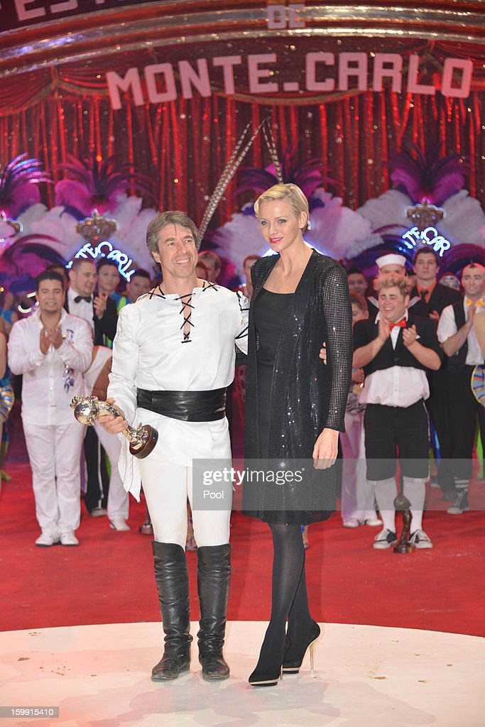 Princess Charlene of Monaco (R) attends the Monte-Carlo 37th International Circus Festival Closing Ceremony on January 22, 2013 in Monte-Carlo, Monaco.