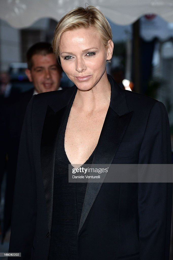 Princess Charlene of Monaco attends the Roberto Cavalli Yacht Party during the 66th Annual Cannes Film Festival on May 22, 2013 in Cannes, France.
