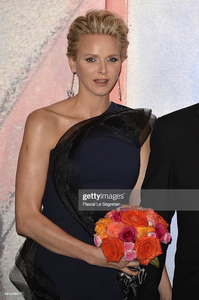 Princess <a gi-track='captionPersonalityLinkClicked' href=/galleries/search?phrase=Charlene+-+Princess+of+Monaco&family=editorial&specificpeople=726115 ng-click='$event.stopPropagation()'>Charlene</a> of Monaco attends the Rose Ball 2014 in aid of the Princess Grace Foundation at Sporting Monte-Carlo on March 29, 2014 in Monte-Carlo, Monaco.