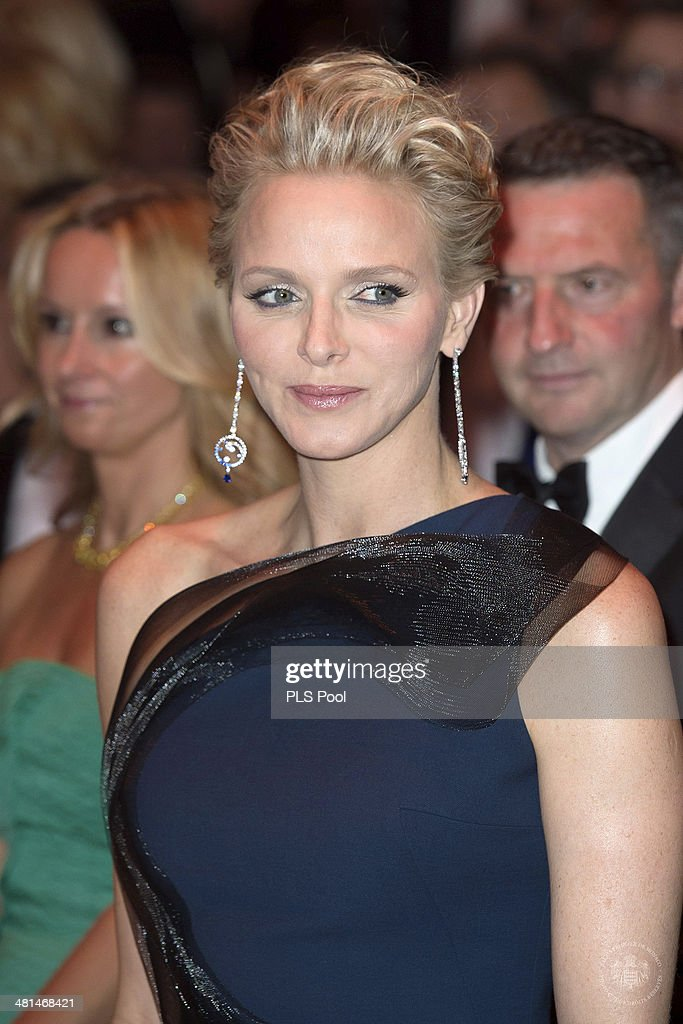 Princess Charlene of Monaco attends the Rose Ball 2014 in aid of the Princess Grace Foundation at Sporting Monte-Carlo on March 29, 2014 in Monte-Carlo, Monaco.