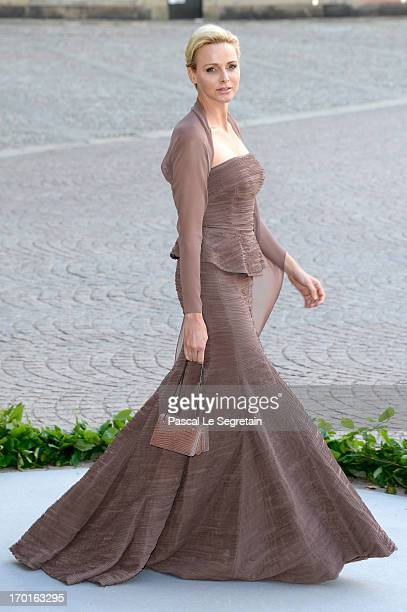 Princess Charlene of Monaco attends the wedding of Princess Madeleine of Sweden and Christopher O'Neill hosted by King Carl Gustaf XIV and Queen...
