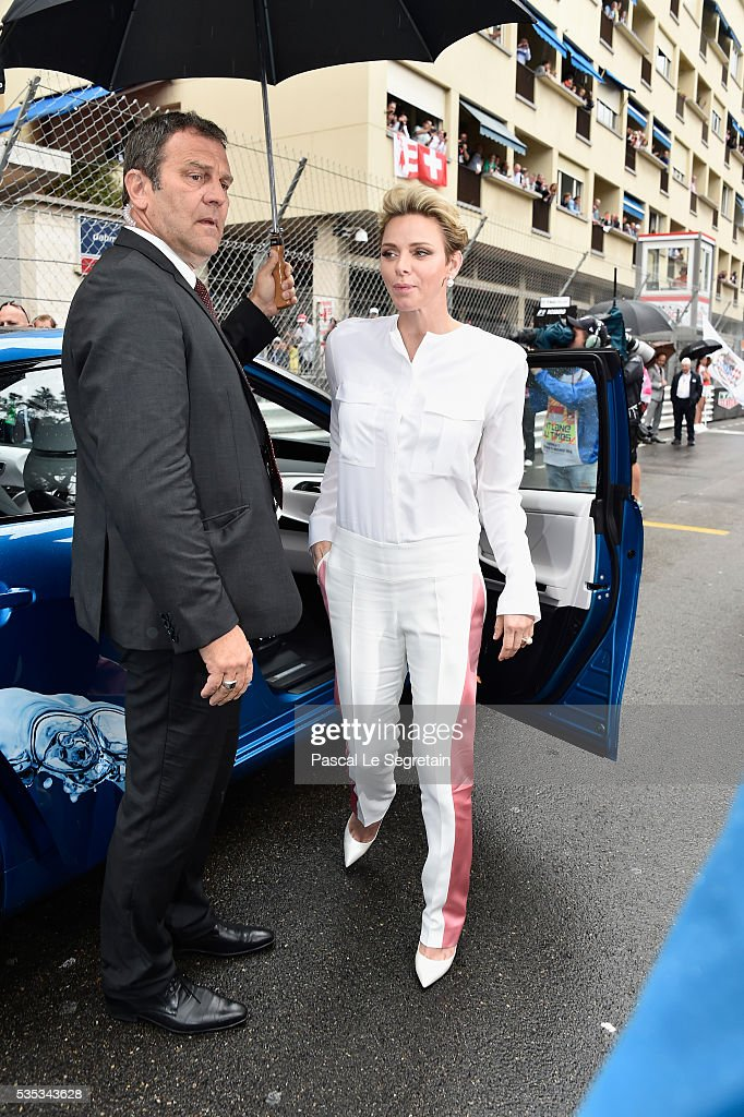 Princess <a gi-track='captionPersonalityLinkClicked' href=/galleries/search?phrase=Charlene+-+Princess+of+Monaco&family=editorial&specificpeople=726115 ng-click='$event.stopPropagation()'>Charlene</a> of Monaco of Monaco attends the F1 Grand Prix of Monaco on May 29, 2016 in Monte-Carlo, Monaco on May 29, 2016 in Monte-Carlo, Monaco.