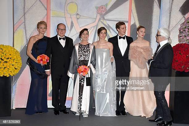 Princess Charlene of Monaco Prince Albert II of Monaco Princess Caroline of Hanover Charlotte Casiraghi Pierre Casiraghi Beatrice Borromeo and Karl...
