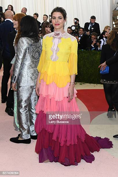 Princess Charlotte Casiraghi attends the 'Manus x Machina Fashion In An Age Of Technology' Costume Institute Gala at Metropolitan Museum of Art on...