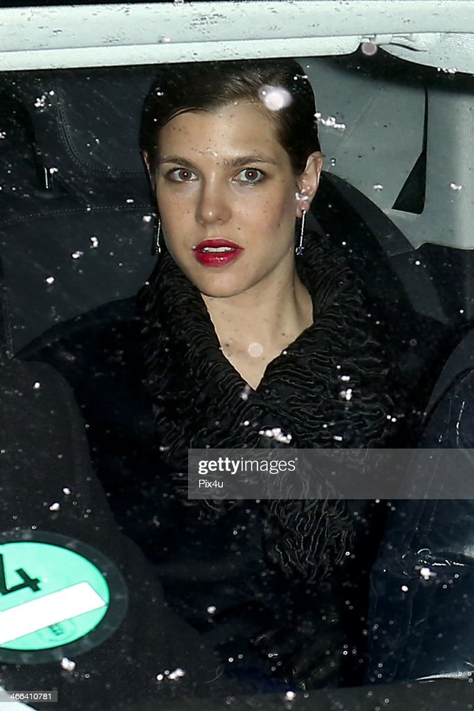 Princess Charlotte of Monaco attends the wedding of Andrea Casiraghi And Tatiana Santo Domingo at the Rougemont church on February 1, 2014 in Gstaad, Switzerland.