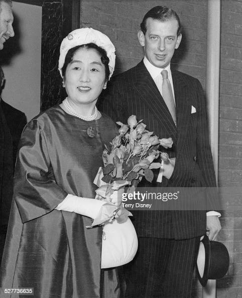 Princess Chichibu sisterinlaw of Emperor Hirohito of Japan arrives in London for an official visit 23rd July 1962 She is met by Prince Edward Duke of...