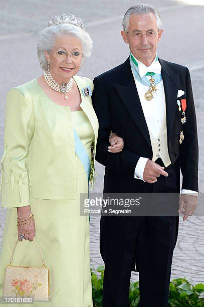 Princess Christina Mrs Magnuson and Tord Magnuson attend the wedding of Princess Madeleine of Sweden and Christopher O'Neill hosted by King Carl...