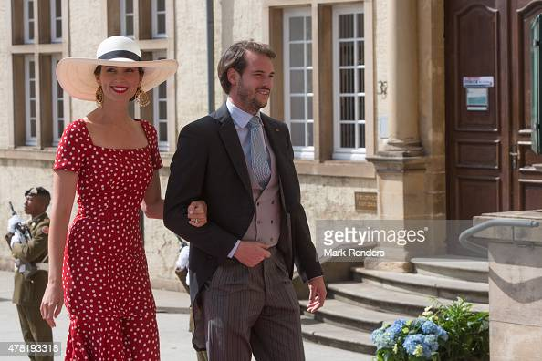 Princess Claire and Prince Felix of Luxembourg assist National Day on June 23 2015 in Luxembourg Luxembourg
