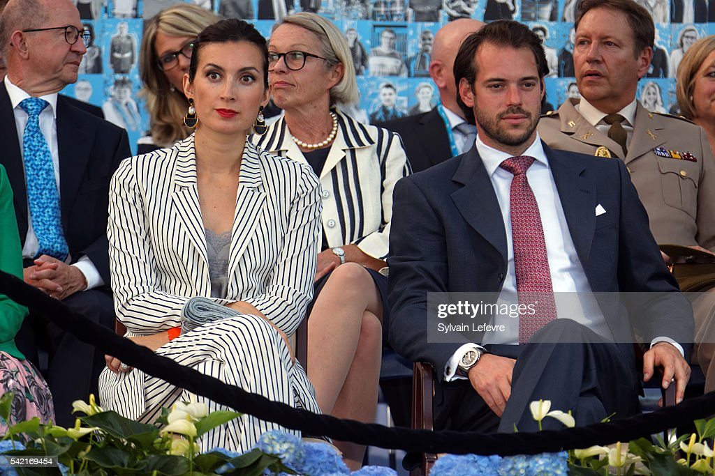 Princess Claire and <a gi-track='captionPersonalityLinkClicked' href=/galleries/search?phrase=Prince+Felix+of+Luxembourg&family=editorial&specificpeople=6881094 ng-click='$event.stopPropagation()'>Prince Felix of Luxembourg</a> celebrate National Day on June 21, 2016 in Luxembourg, Luxembourg.