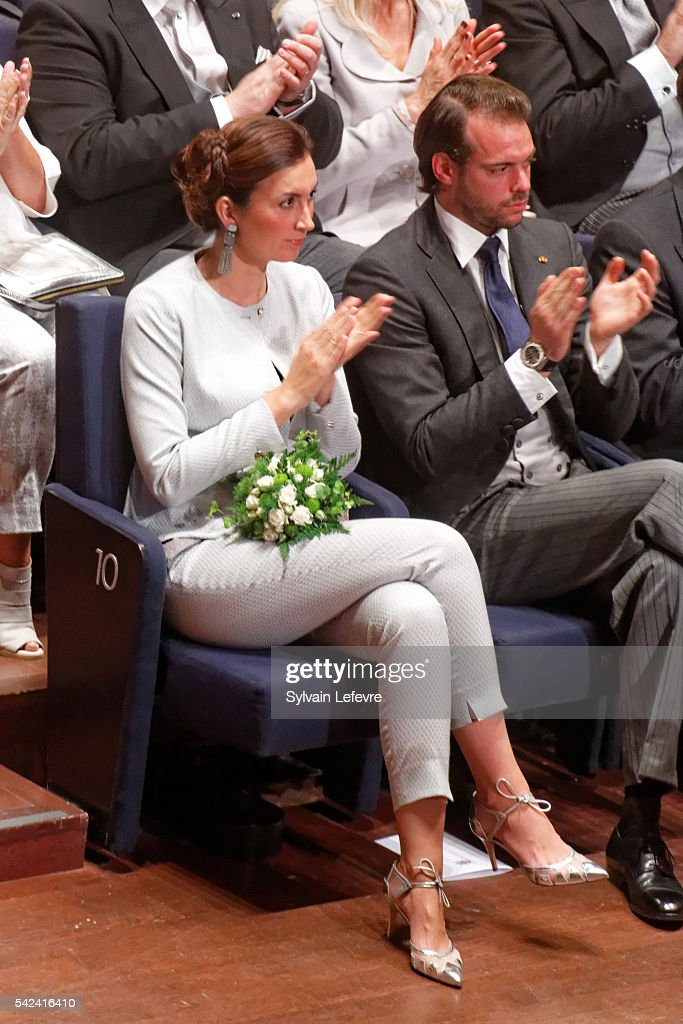 Princess Claire and <a gi-track='captionPersonalityLinkClicked' href=/galleries/search?phrase=Prince+Felix+of+Luxembourg&family=editorial&specificpeople=6881094 ng-click='$event.stopPropagation()'>Prince Felix of Luxembourg</a> celebrate National Day 2 at Philarmonie on June 23, 2016 in Luxembourg, Luxembourg.