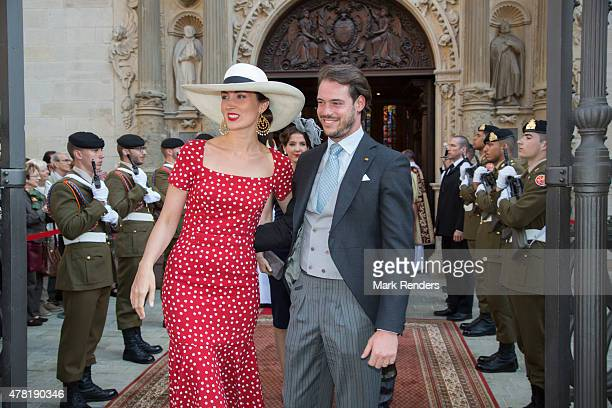 Princess Claire and Prince Felix of Luxembourg on June 23 2015 in Luxembourg Luxembourg