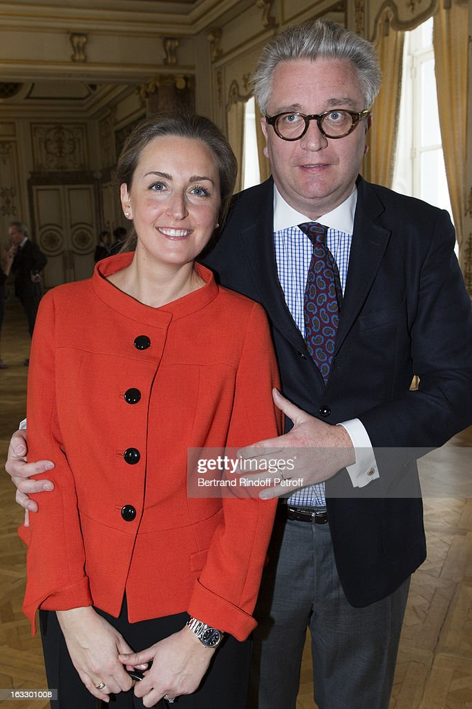 <a gi-track='captionPersonalityLinkClicked' href=/galleries/search?phrase=Princess+Claire+of+Belgium&family=editorial&specificpeople=215265 ng-click='$event.stopPropagation()'>Princess Claire of Belgium</a> and <a gi-track='captionPersonalityLinkClicked' href=/galleries/search?phrase=Prince+Laurent+of+Belgium&family=editorial&specificpeople=786930 ng-click='$event.stopPropagation()'>Prince Laurent of Belgium</a> attend an award giving ceremony for French journalist and author Stephane Bern at Palais d'Egmont on March 7, 2013 in Brussels, Belgium.