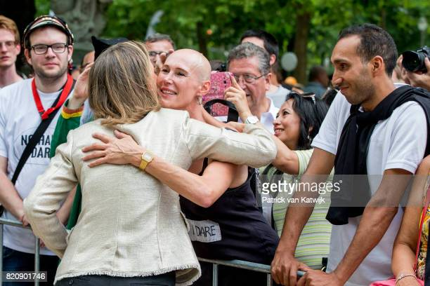 Princess Claire of Belgium attends the festivities in the Warandepark on the occasion of the Belgian National Day in the Cathedral on July 21 2017 in...