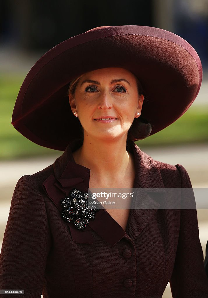 <a gi-track='captionPersonalityLinkClicked' href=/galleries/search?phrase=Princess+Claire+of+Belgium&family=editorial&specificpeople=215265 ng-click='$event.stopPropagation()'>Princess Claire of Belgium</a> attends the wedding ceremony of Prince Guillaume Of Luxembourg and Princess Stephanie of Luxembourg at the Cathedral of our Lady of Luxembourg on October 20, 2012 in Luxembourg, Luxembourg. The 30-year-old hereditary Grand Duke of Luxembourg is the last hereditary Prince in Europe to get married, marrying his 28-year old Belgian Countess bride in a lavish 2-day ceremony.
