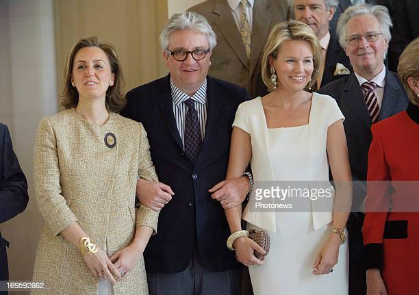 Princess Claire of Belgium Prince Laurent of Belgium and Princess Mathilde of Belgium attend King Albert and Queen Paola hosting a lunch for the jury...