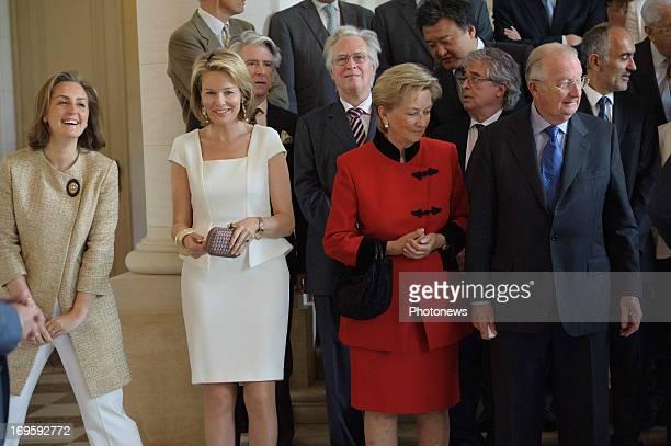 Princess Claire of Belgium Prince Laurent of Belgium and Princess Mathilde of Belgium King Albert of Belgium and Queen Paola of Belgium attend a...