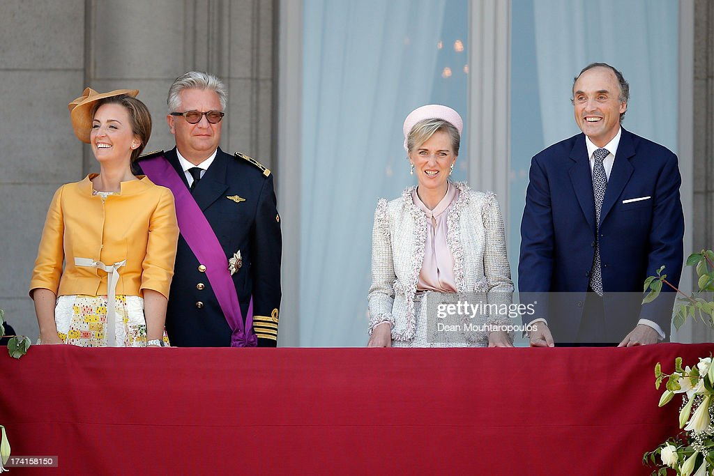 <a gi-track='captionPersonalityLinkClicked' href=/galleries/search?phrase=Princess+Claire+of+Belgium&family=editorial&specificpeople=215265 ng-click='$event.stopPropagation()'>Princess Claire of Belgium</a>, <a gi-track='captionPersonalityLinkClicked' href=/galleries/search?phrase=Prince+Laurent+of+Belgium&family=editorial&specificpeople=786930 ng-click='$event.stopPropagation()'>Prince Laurent of Belgium</a>, <a gi-track='captionPersonalityLinkClicked' href=/galleries/search?phrase=Princess+Astrid+of+Belgium+-+Born+1962&family=editorial&specificpeople=674584 ng-click='$event.stopPropagation()'>Princess Astrid of Belgium</a> and <a gi-track='captionPersonalityLinkClicked' href=/galleries/search?phrase=Prince+Lorenz+of+Belgium&family=editorial&specificpeople=2468609 ng-click='$event.stopPropagation()'>Prince Lorenz of Belgium</a> seen during the Abdication Of King Albert II Of Belgium, & Inauguration Of King Philippe on July 21, 2013 in Brussels, Belgium.