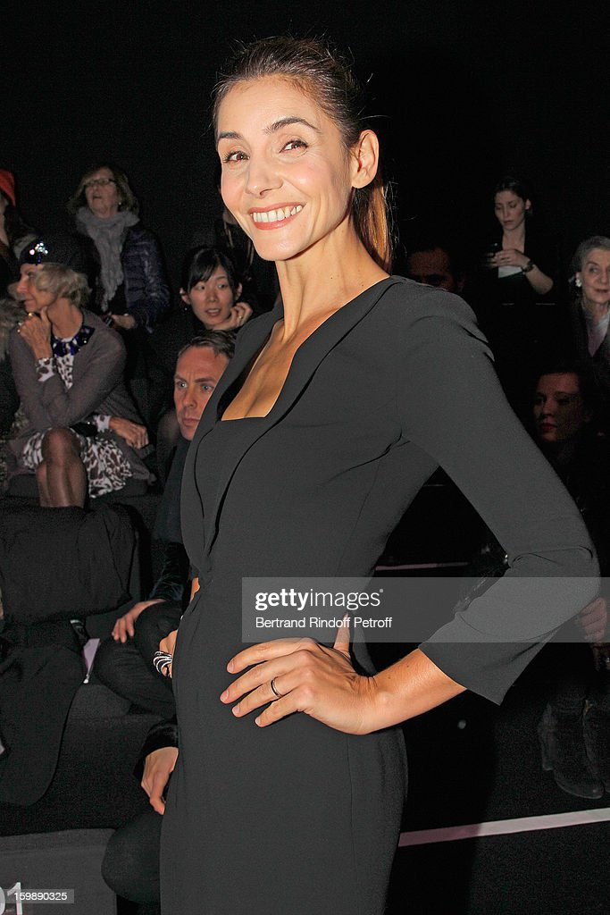 Princess Clotilde de Savoie (Clotilde Courau) attends the Giorgio Armani Prive Spring/Summer 2013 Haute-Couture show as part of Paris Fashion Week at Theatre National de Chaillot on January 22, 2013 in Paris, France.