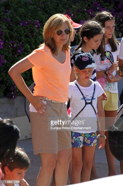 Princess Cristina of Spain and her daughter Irene Urdangarin are seen in Mallorca on July 29 2013 in Mallorca Spain Princess Cristina of Spain comes...