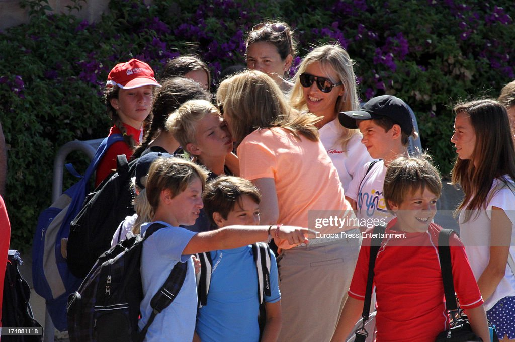 <a gi-track='captionPersonalityLinkClicked' href=/galleries/search?phrase=Princess+Cristina+of+Spain&family=editorial&specificpeople=160232 ng-click='$event.stopPropagation()'>Princess Cristina of Spain</a> and her sons Miguel Urdangarin and Pablo Nicolas Urdangarin are seen in Mallorca on July 29, 2013 in Mallorca, Spain. <a gi-track='captionPersonalityLinkClicked' href=/galleries/search?phrase=Princess+Cristina+of+Spain&family=editorial&specificpeople=160232 ng-click='$event.stopPropagation()'>Princess Cristina of Spain</a> comes back to Mallorca after two years.
