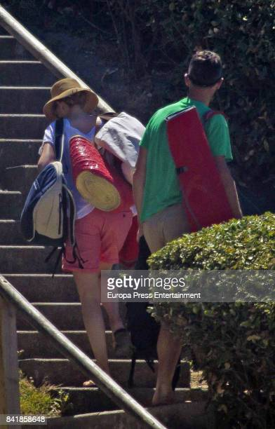 Princess Cristina of Spain and Inaki Urdangarin are seen on August 4 2017 in Bidart France