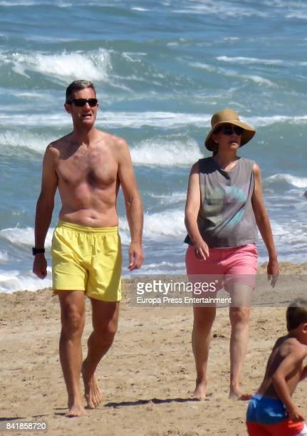 Princess Cristina of Spain and Inaki Urdangarin are seen on August 4 2017 in Bidart France