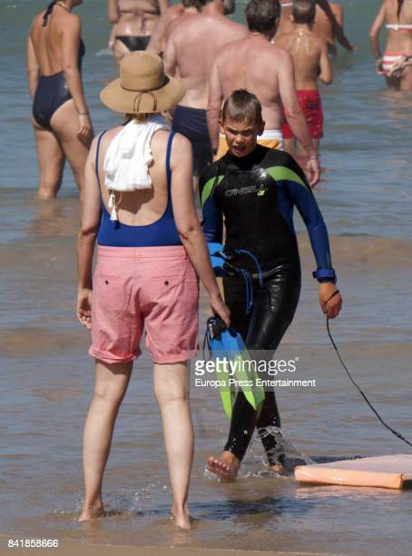 Princess Cristina of Spain and Miguel Urdangarin are seen on August 4 2017 in Bidart France