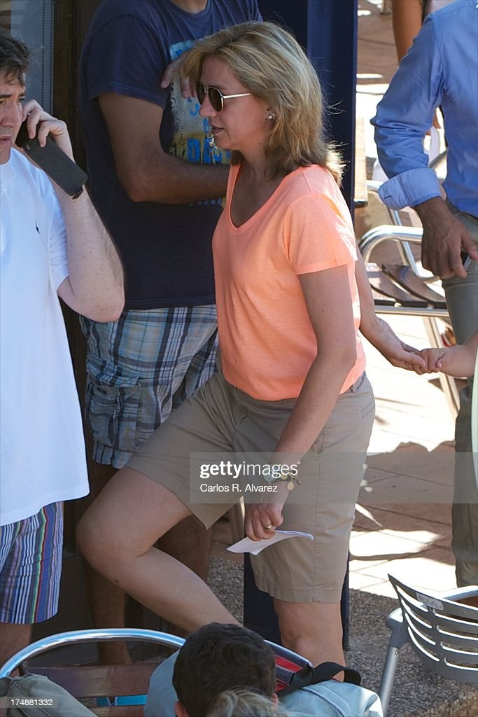 <a gi-track='captionPersonalityLinkClicked' href=/galleries/search?phrase=Princess+Cristina+of+Spain&family=editorial&specificpeople=160232 ng-click='$event.stopPropagation()'>Princess Cristina of Spain</a> arrives at Calanova Sailing School on July 29, 2013 in Palma de Mallorca, Spain.