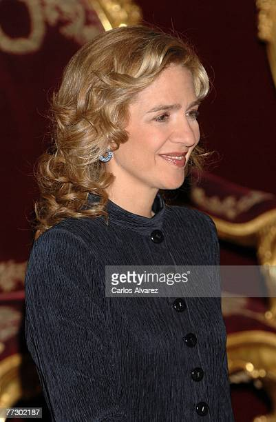 Princess Cristina of Spain attends Reception in occasion of Spain National Day on October 12 2007 at Royal Palace in Madrid Spain