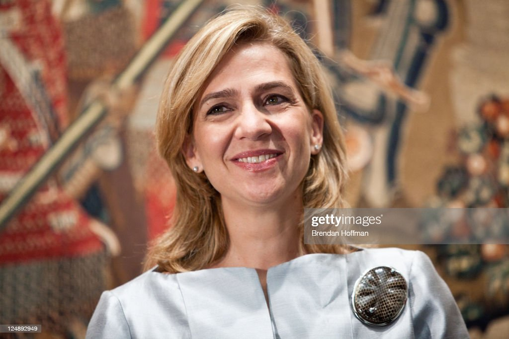 Princess Cristina of Spain attends the opening of 'The Invention Of Glory Afonso V And The Pastrana Tapestries' exhibition at the National Gallery of...