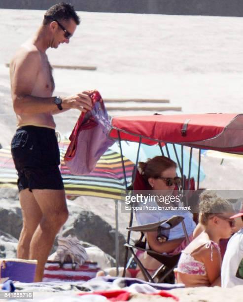 Princess Cristina of Spain Inaki Urdangarin and Irene Urdangarin are seen on August 4 2017 in Bidart France