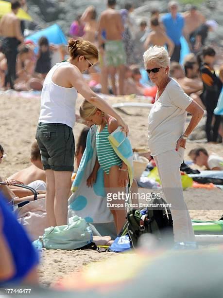 Princess Cristina of Spain Inaki Urdangarin's mother Claire Liebaert and Irene Urdangarin are seen on August 8 2013 in Bidart France