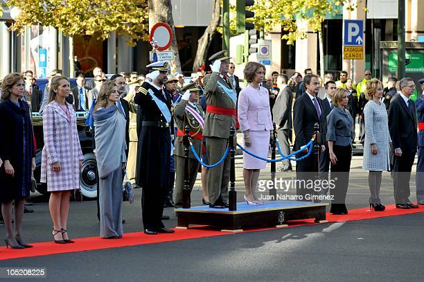 Princess Cristina of Spain Princess Elena of Spain Princess Letizia of Spain Prince Felipe of Spain King Juan Carlos I of Spain Queen Sofia of Spain...