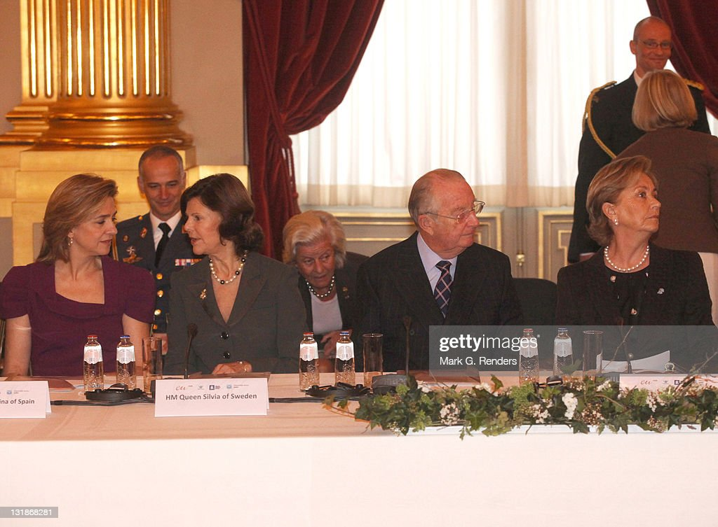 "Queen Paola of Belgium Hosts a Conference About ""Vulnerable Children On The Run"""
