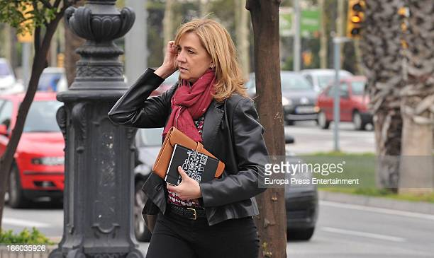 Princess Cristina of Spain walks to her office at La Caixa Foundation on April 8 2013 in Barcelona Spain A Spanish court has named Princess Cristina...