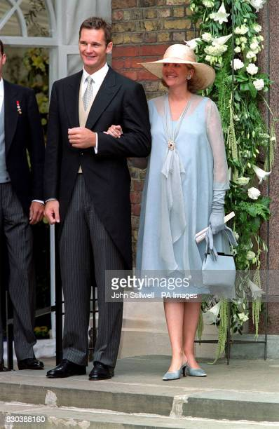 Princess Cristine of Spain and her husband Inaki Urdangar arrive at the Greek Orthodox Cathedral of St Sophia in Bayswater west London forthe wedding...
