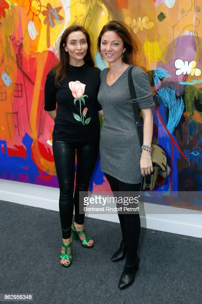 Princess de Ligne la Tremoille Isabella Rosselini and Diane de Polignac attend the FIAC 2017 International Contemporary Art Fair Press Preview at Le...