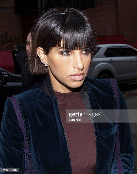 Princess Deena Abdulaziz at the DKNY Women's Collection arrivals during NYFW A/W 2016 at the Skylight Modern in New York City �� LAN