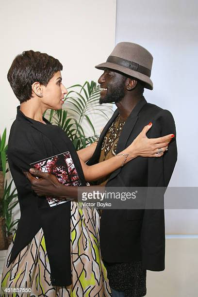 Princess Deena al Juhani Abdulaziz and Jenke Ahmed Tailly attend Venyx new collection cocktail launch as part of Paris Fashion Week HauteCouture...