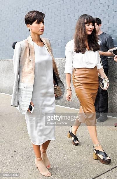Princess Deena Al Juhani Abdulaziz is seen outside the Calvin Klein show on September 12 2013 in New York City