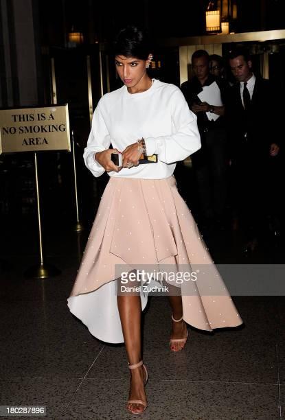 Princess Deena Al Juhani Adbulaziz is seen outside the Oscar de la Renta show on September 10 2013 in New York City