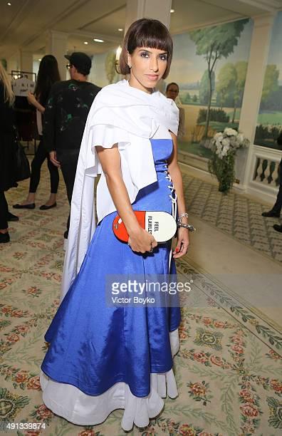 Princess Deena Aljuhani Abdulaziz attends Buro 24/7 Family Presentation of 9 Fashion Designers from Russia Ukraine and Kazakhstan at Hotel Bristol on...