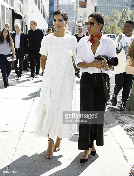 Princess Deena Aljuhani Abdulaziz attends Calvin Klein Collection Spring 2016 New York Fashion Week The Shows at Spring Studios on September 17 2015...