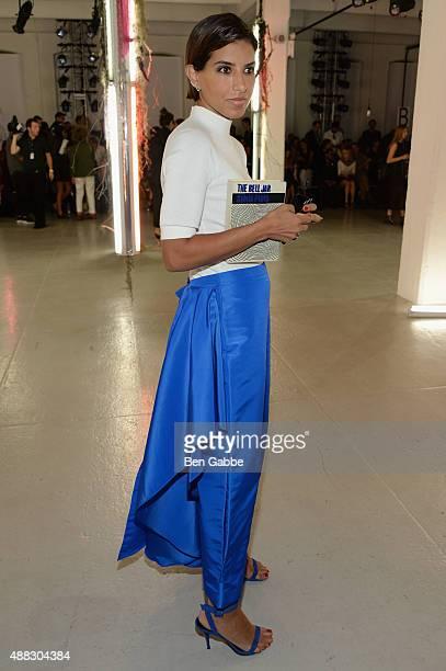 Princess Deena Aljuhani Abdulaziz attends Rodarte Spring 2016 during New York Fashion Week at Center 548 on September 15 2015 in New York City