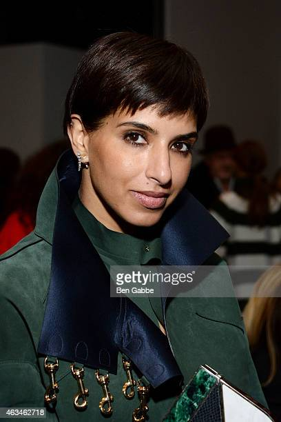 Princess Deena Aljuhani Abdulaziz attends the Altuzarra fashion show during MercedesBenz Fashion Week Fall 2015 at Spring Studios on February 14 2015...