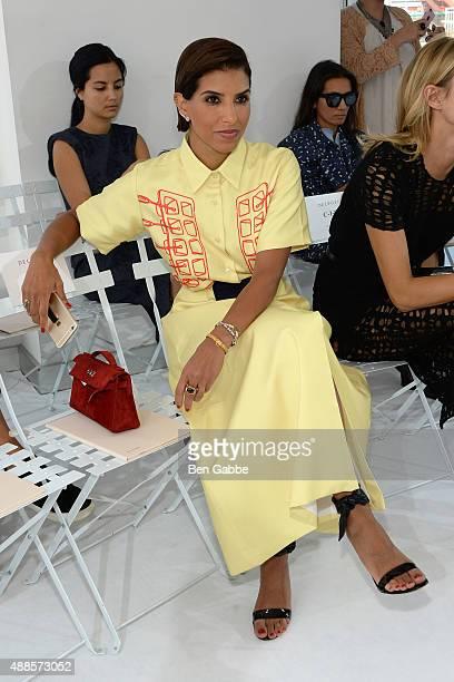 Princess Deena Aljuhani Abdulaziz attends the Delpozo Fashion Show during Spring 2016 New York Fashion Week at Pier 59 on September 16 2015 in New...
